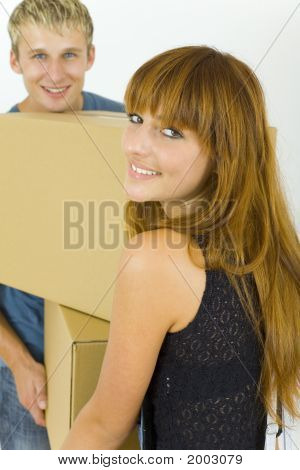 Couple With Box