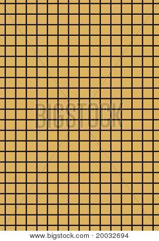 Black grid on golden background
