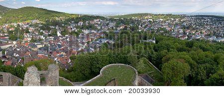 Panorama de Koenigstein e Castelo