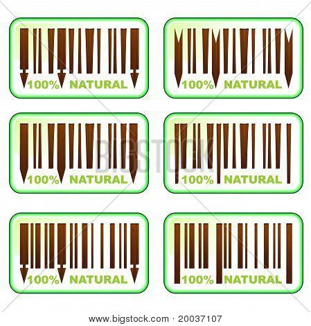 Wooden Barcodes