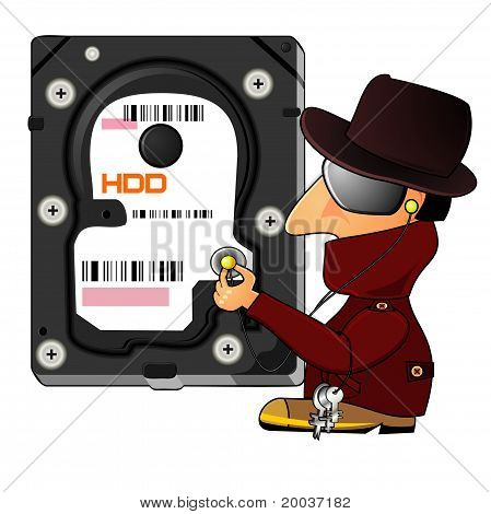 Hacker Exploring Hard Disk Drive