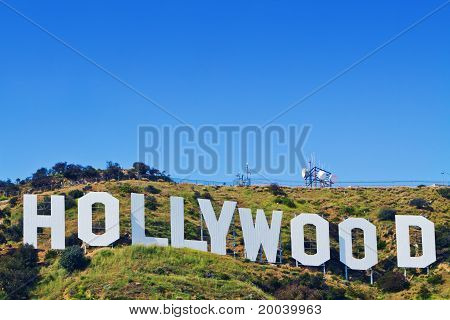 The Iconic Hollywood Sign Of Los Angeles, California