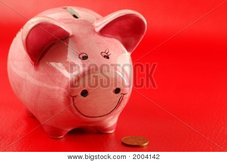 Piggy Bank And Coin