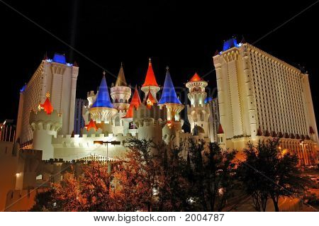 Excalibur Casino, Las Vegas At Night