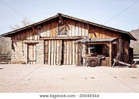 Old wooden western building