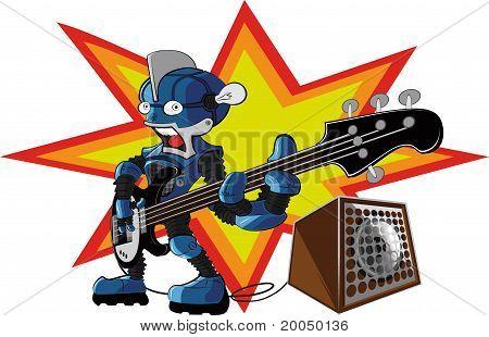 Bassist robot