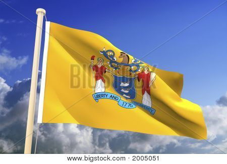New Jersey Flag (Clipping Path)