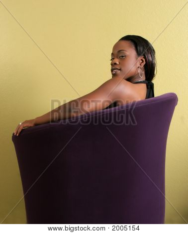Young Women In Sofa
