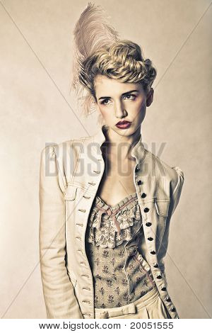 Beautiful Blond Fashion Model