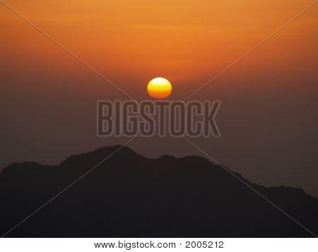 Sunrise On Mount Moses