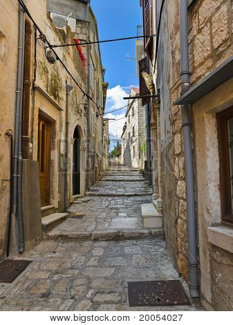 Street At Korcula, Croatia