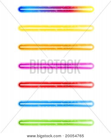 Laser Neon Colorful Lights On White Background