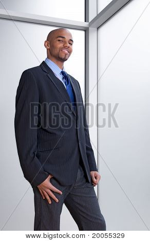 Business Man Beside The Window