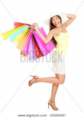Asian Shopping Woman Happy