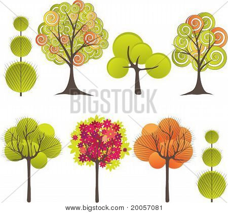 Abstract tree. Vector illustration