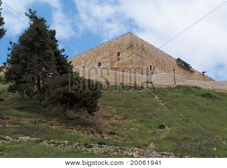 Temple Mount above the Kidron Valley in Jerusalem