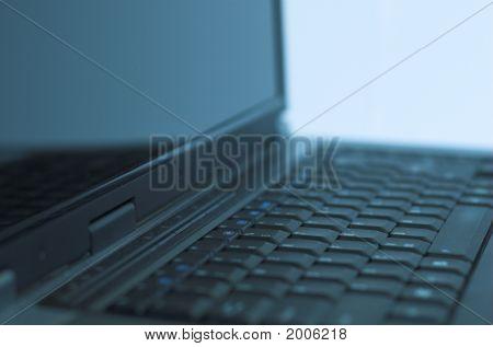 Laptop In Blue Tonation