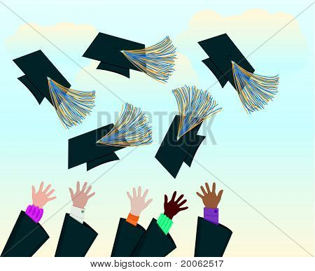 Grads Throwing Caps