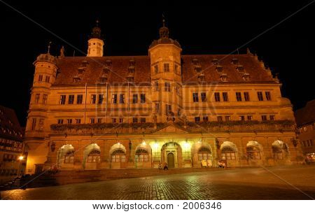 The Town Hall In Rothenburg Ob Der Tauber
