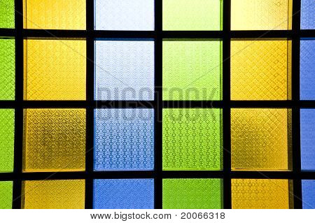 multi-colored glass