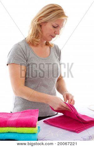 Ama de casa plegable colores toallas