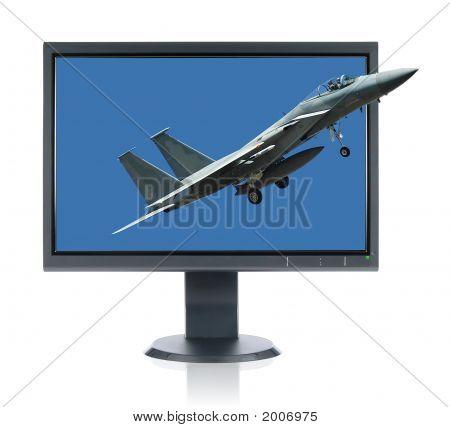F 15 Eagle And Monitor