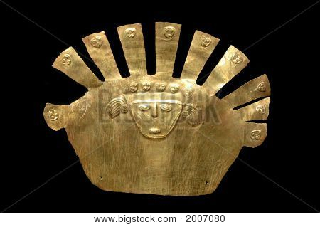 Gold Inca Mask