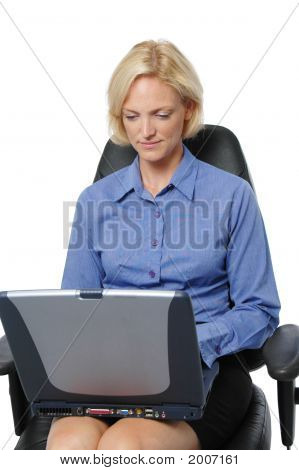 Businesswoman At The Computer