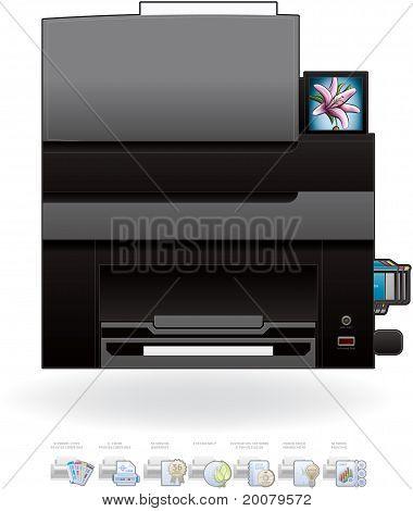 Office Inkjet Impressora/Fotocopiadora