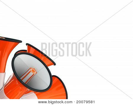 loudspeaker signal orange