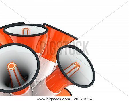 loudspeaker signal orange