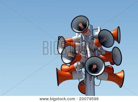 16 loudspeakers