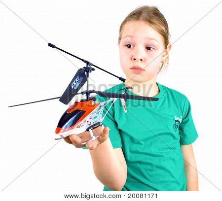 Girl With A Toy Helicopter