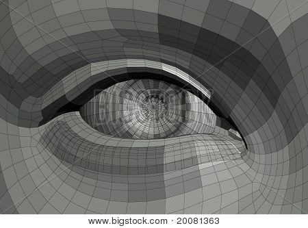Mechanical Eye Illustration