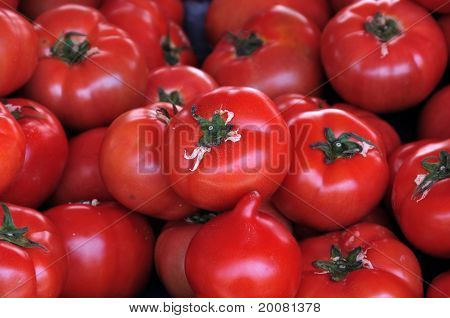 Red Tomatoes Vegetables Background