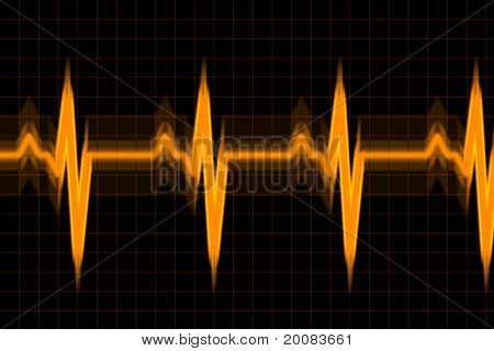 Vibrant Audio Or Pulse Beat Wave Graph