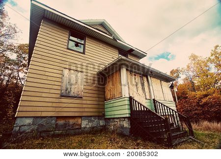 A Boarded Up, Broken Down, Abandoned, Haunted House