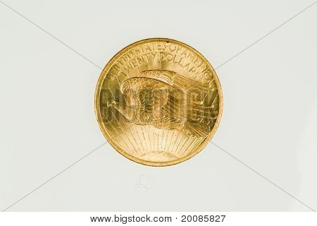 US double eagle gold coin, reverse