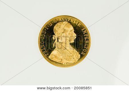 Austria 4 ducat gold coin of Franz Joseph I