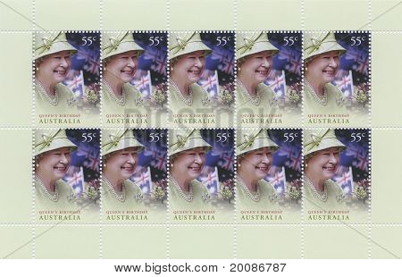 Queen Elizabeth, 85th Birthday Stamps