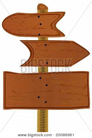 Wooden Arrows And Board.