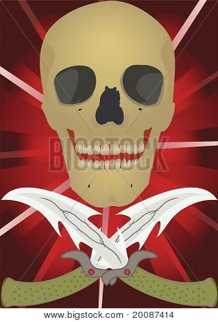 Skull With The Crossed Knifes.