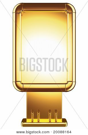 Golden Billboard Or Isolated On White