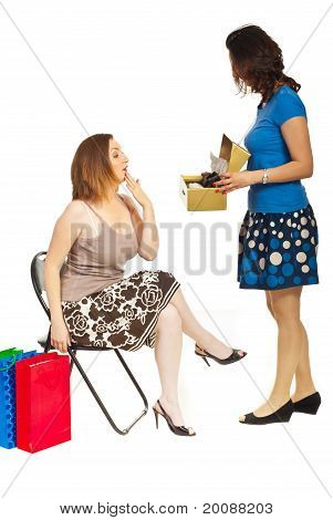 Clerk With Customer Woman