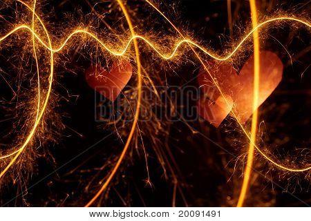 Light Heart Background