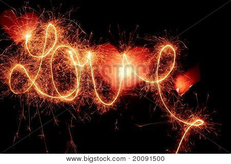 "Writing ""love"" With Light"