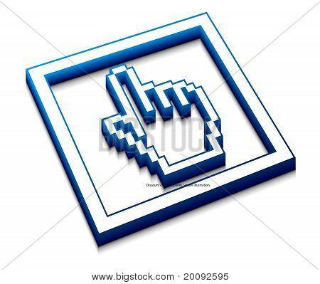Cursor del ratón de mano