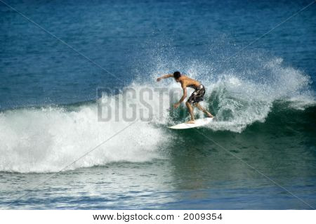 Blue Waves And Rider