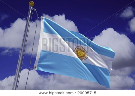 Waving Argentine Flag