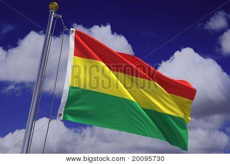 Waving Bolivian Flag